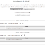Gerenciamento do ASP.NET