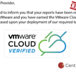 A CentralServer é VMware Cloud Verified!